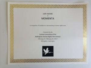 bellingham_HRFF_jury_award_MOMENTA